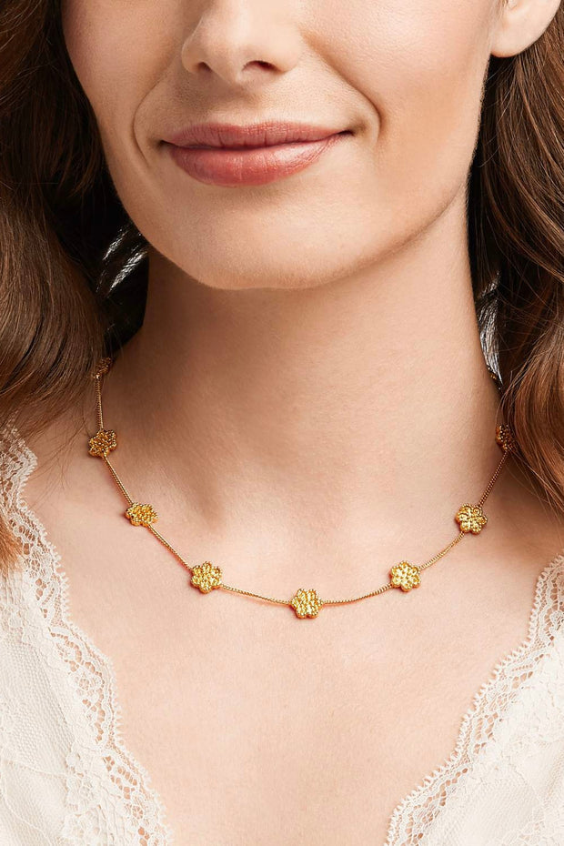 COLETTE DELICATE STATION NECKLACE- GOLD