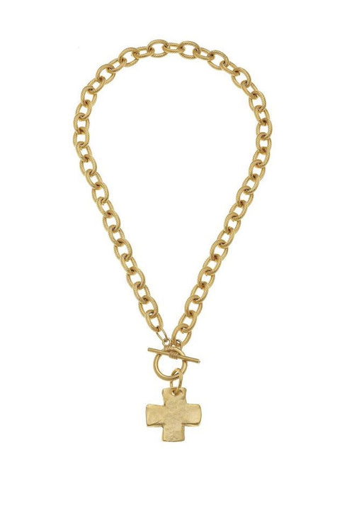 CROSS TOGGLE NECKLACE- GOLD