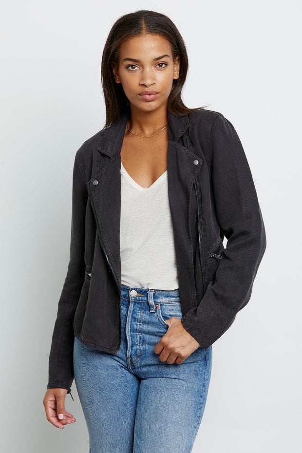 MOTO JACKET W/ZIPPERS