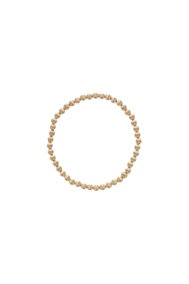 DIGNITY GOLD 4MM BEAD BRACELET