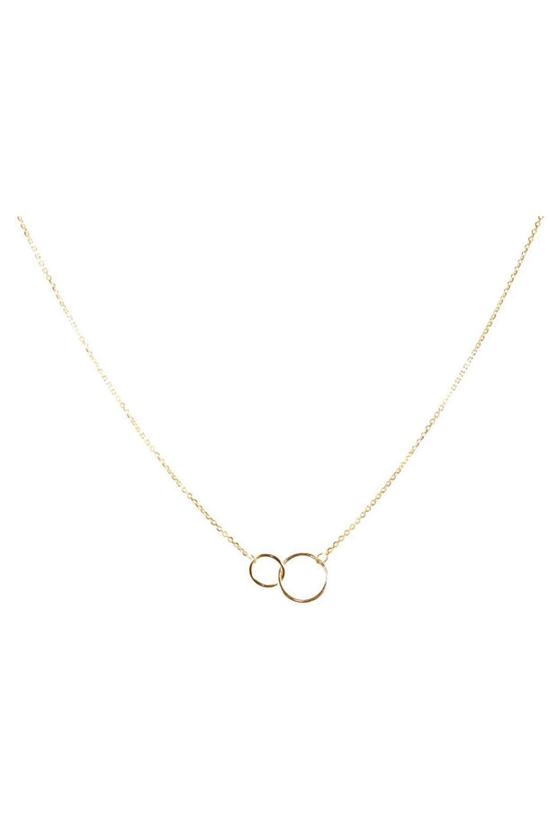 DOUBLE TROUBLE CIRCLE NECKLACE