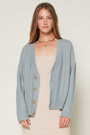 V NECK BUTTON UP CARDIGAN