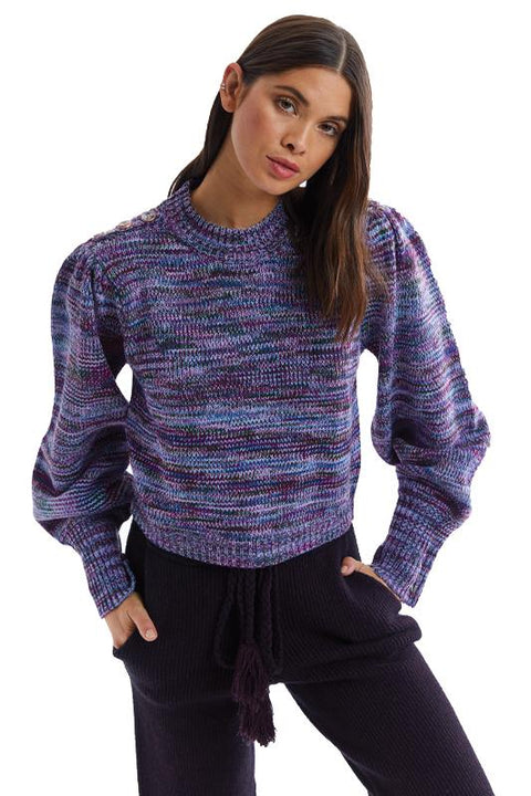 SPACE DYE PULLOVER
