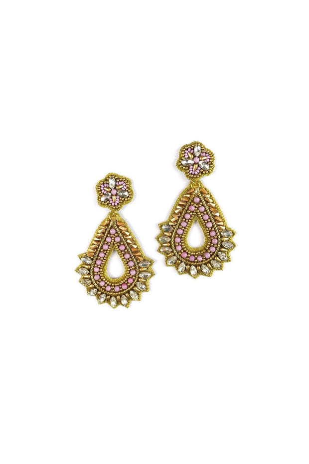 ELIZABETH EARRINGS- LAVENDER/GLD