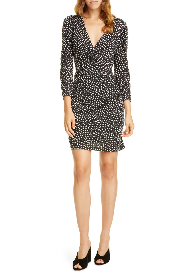 LS DOT JERSEY DRESS