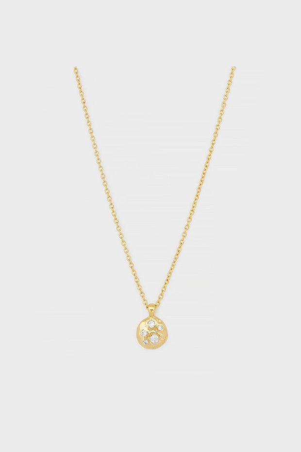 COLLETTE CIRCLE ADJUSTABLE NECK- GLD/CZ