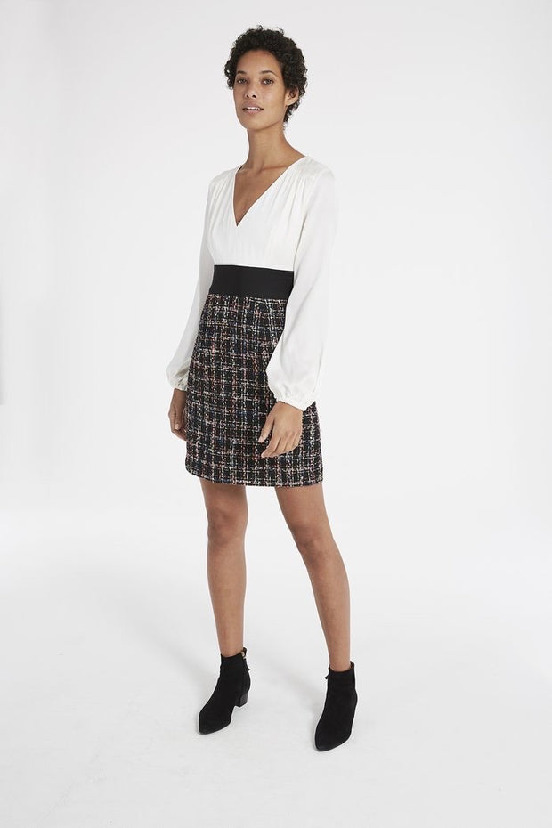 NICOLA CHECK TWEED DRESS