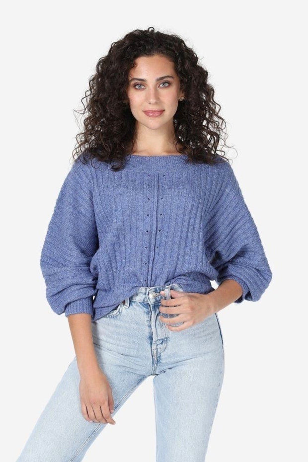 JUNIPER KNIT PUFF SLV SWEATER