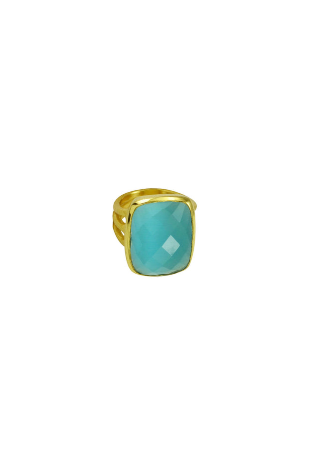 LINEA 3 LINE STONE RING