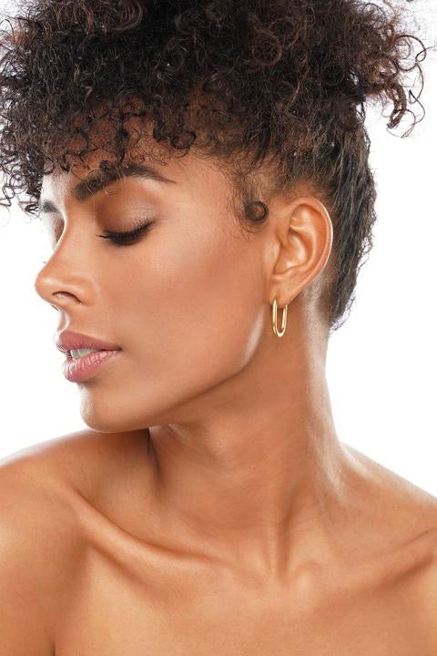 EASTON OVAL HOOP EARRING