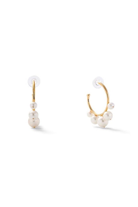 PEARL SWIRL EARRINGS SM (G14)
