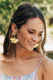 GINKO EARRINGS- GOLD