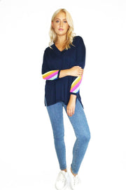 SPORTY V STRIPE SWEATER