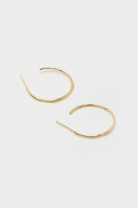 TANER SMALL HOOPS- GOLD