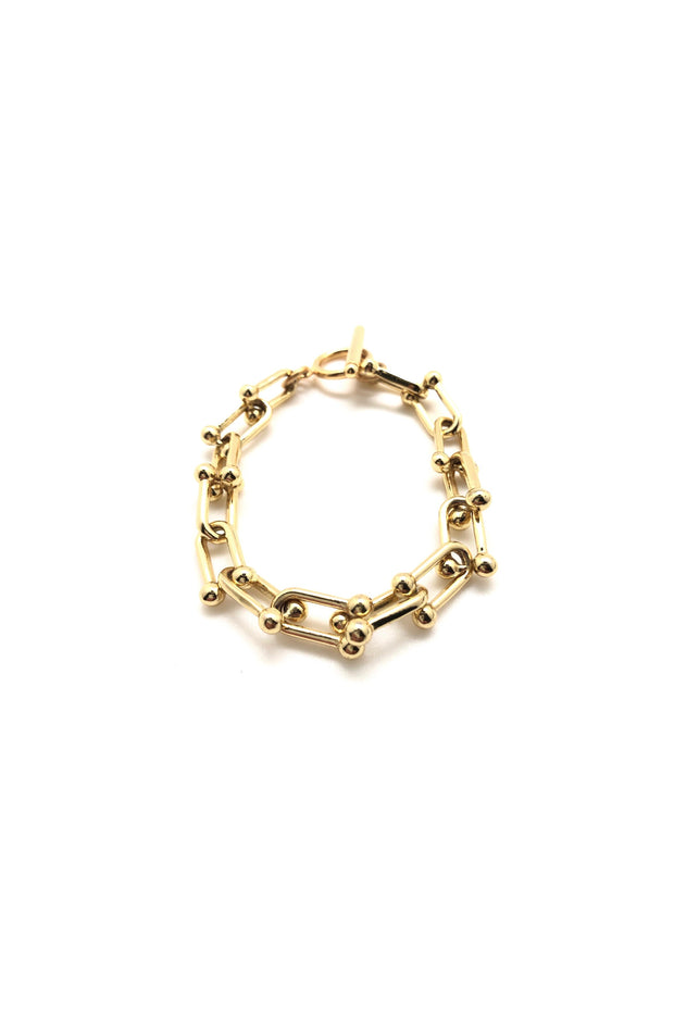 GOLD FILLED U BRACELET