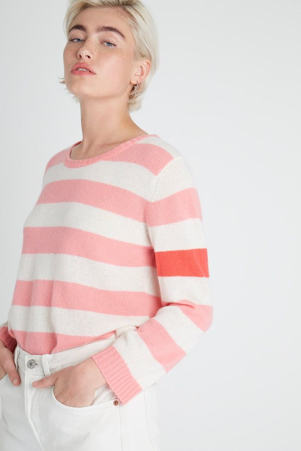SECRET STRIPE CREW SWEATER