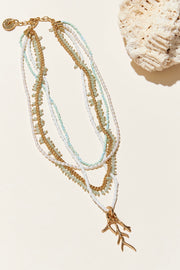 TREASURE CAY NECKLACE- MINT/GOLD