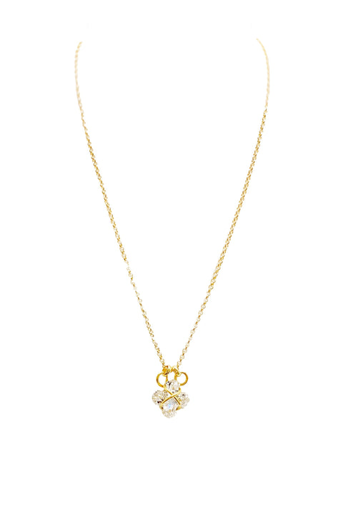 CAPTURED MALTESE CROSS NECKLACE