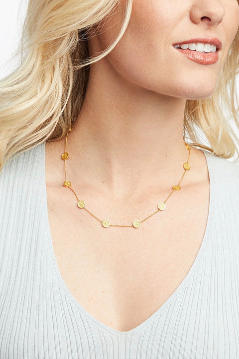 VALENCIA DELICATE STATION NECKLACE- GOLD