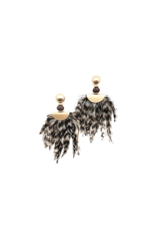 ESTHER FEATHER EARRINGS