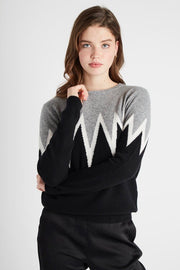 STARBURST ARMS CREW SWEATER