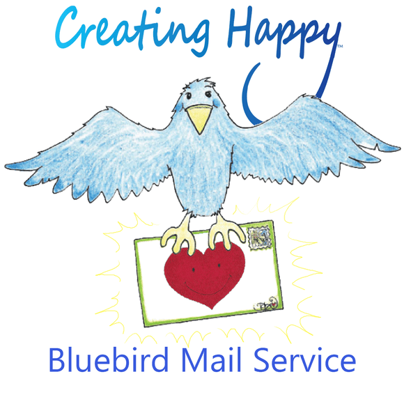 Creating Happy Bluebird Mailing Service- 5 Cards