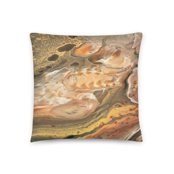 Throw Pillow- Fossil Pour