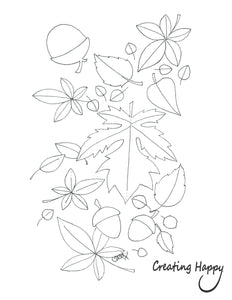 Free Coloring Page- Autumn Leaves