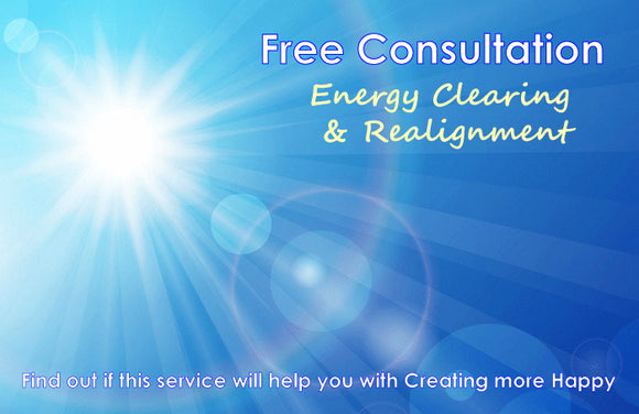 Free Consultation- Energy Clearing & Realignment