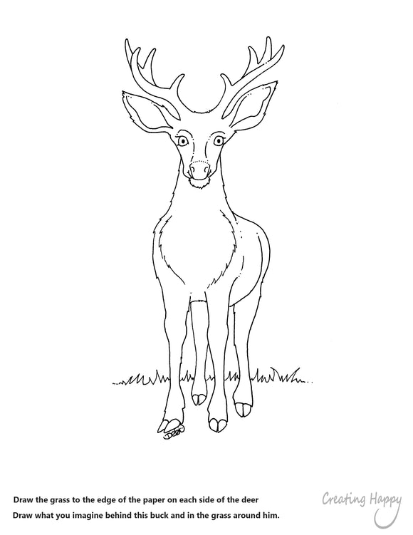 Free Coloring Page - Happy Buck