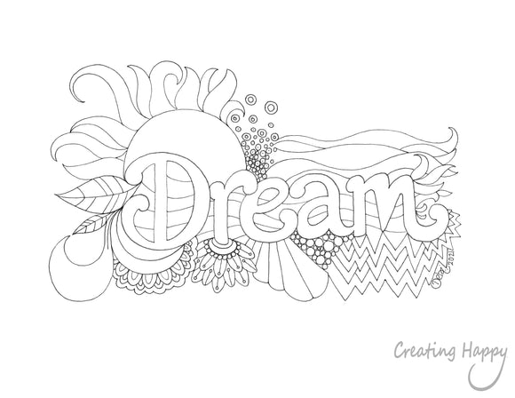 Free Coloring Page- Color & Dream