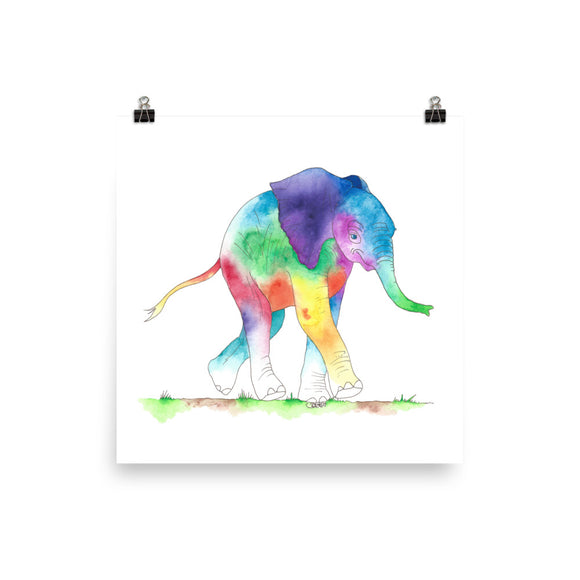 Happy Baby Elephant Print- 5 sizes