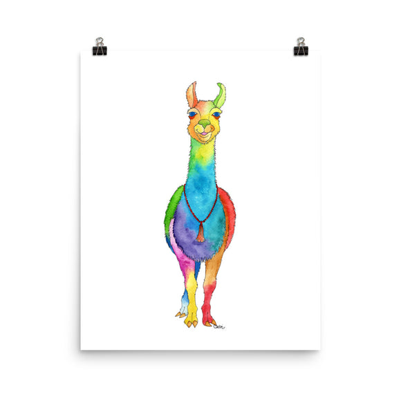 Happy Llama Print- 6 sizes