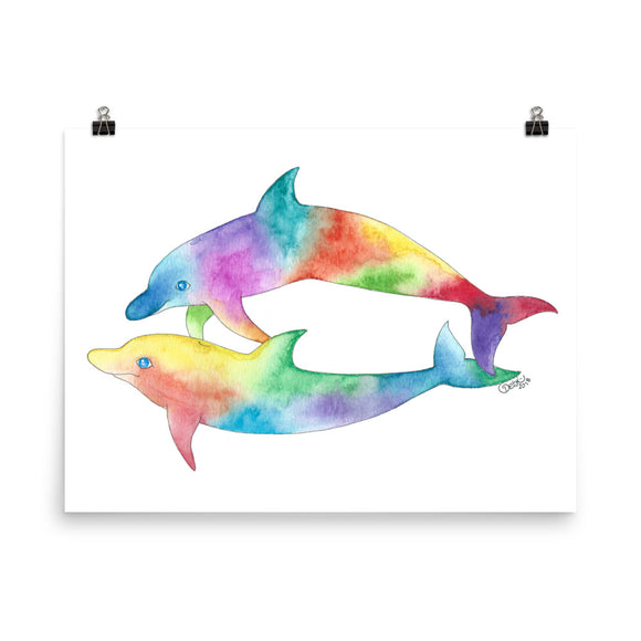 Happy Dolphins Print- 6 sizes