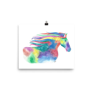 Wild and Free Horse Print- 6 sizes