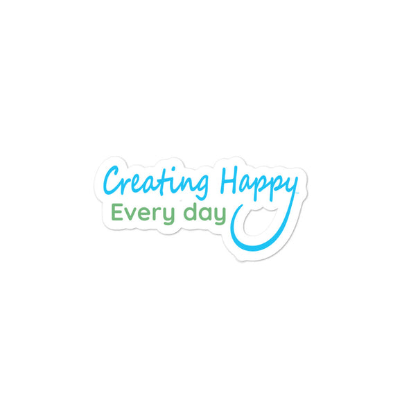 Creating Happy Every day Sticker