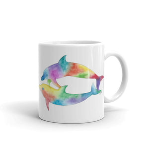 Playful Dolphins Ceramic Mug , printed on both sides, 2 sizes available