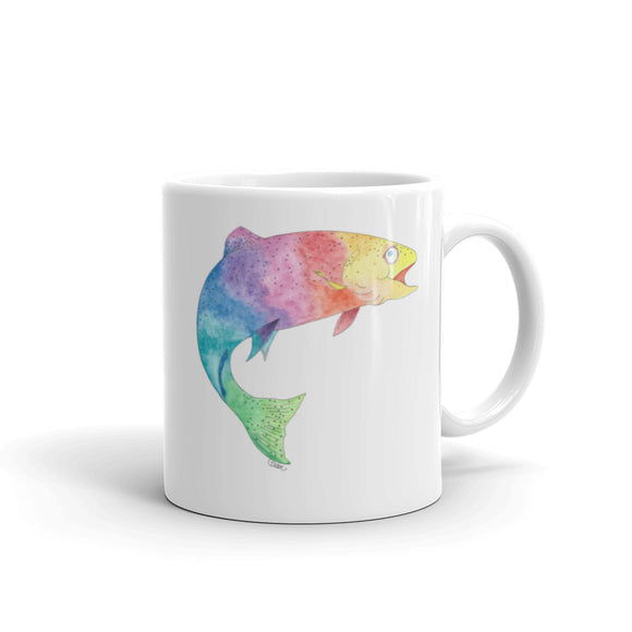 Rainbow Trout Ceramic Mug, printed on both sides- 2 sizes
