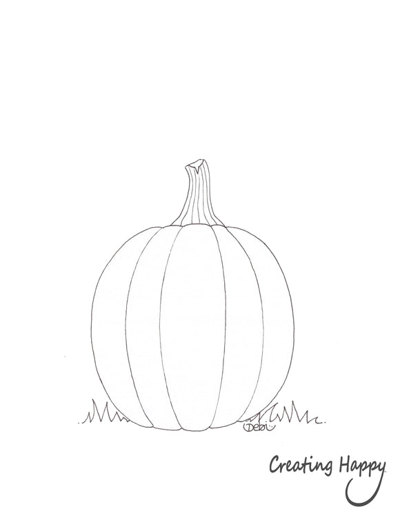 Free Coloring Page- Pumpkin