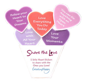 Share the Love Sticker Pack- Handcrafted