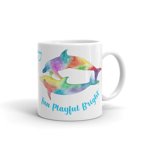 Fun, Playful and Bright Dolphins Mug