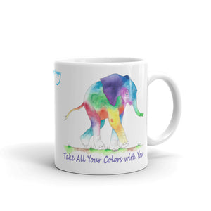 Take All Your Colors Baby Elephant Mug