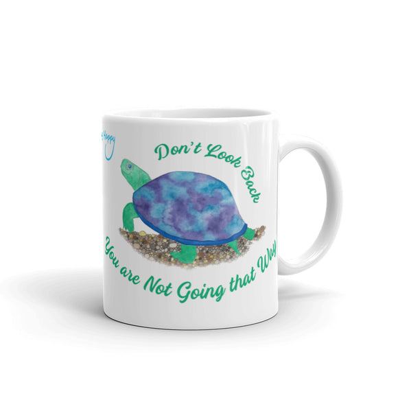 Don't Look Back Tortoise Ceramic Mug
