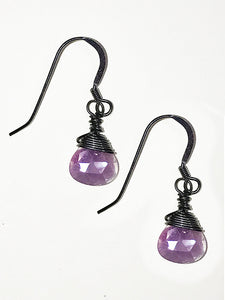 Purple Moonstone Earrings