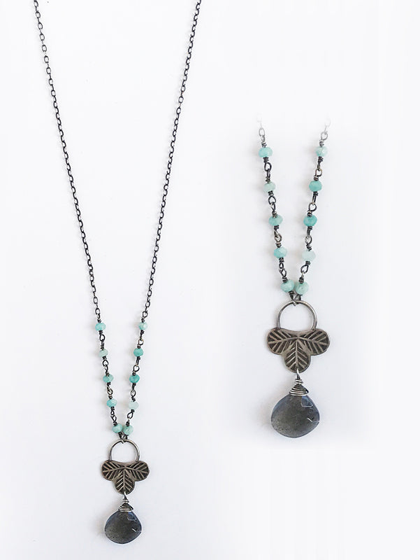 Labradorite and Amazonite Necklace