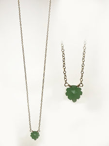 Aventurine Leaf Goldfill Necklace