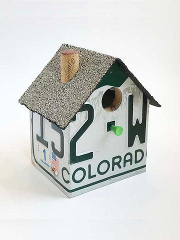 Colorado License Plate Birdhouse