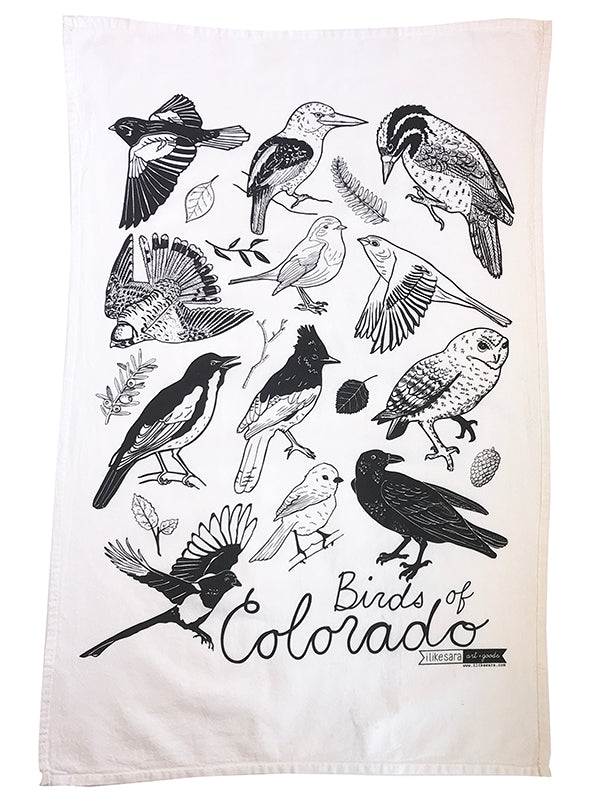 Birds of Colorado Dish Towel