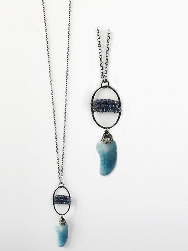 Iolite and Aquamarine Necklace