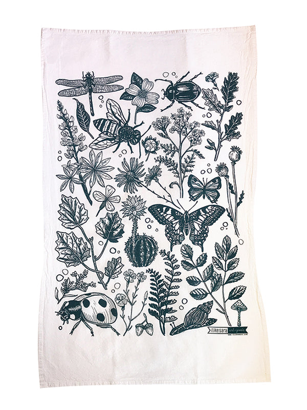 Bugs & Blooms Dish Towel